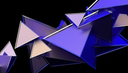 Rendu 3d abstrait de formes géométriques. Design de fond moderne pour affiche, couverture, image de marque, bannière, pancarte.