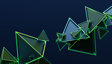 Abstract 3d rendering of geometric shapes. Modern background design for poster, cover, branding, banner, placard.
