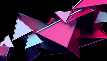 Abstract 3d rendering of geometric shapes.