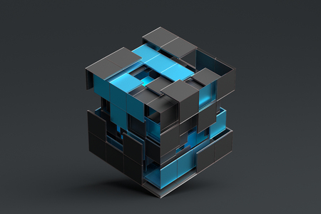 Abstract 3d rendering of a modern geometric background.