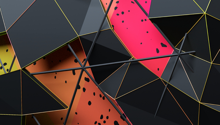 Abstract 3d rendering of geometric surface. 版權商用圖片