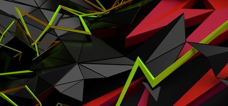 Abstract 3d rendering of random geometric shapes. Stock fotó