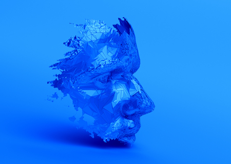 Polygonal human face. Stockfoto