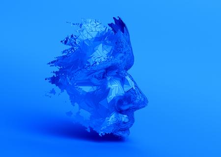 Visage humain polygonal. Banque d'images