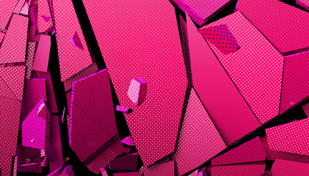 Abstract 3d rendering of cracked surface. Modern background design, wall destruction Foto de archivo - 110521661