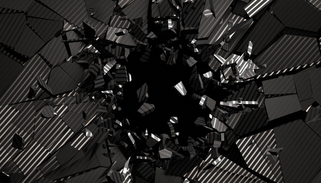 Abstract 3d rendering of cracked surface. Modern background design, wall destruction