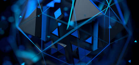 Abstract 3d rendering of a geometric background. Futuristic modern design