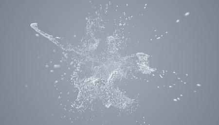 Abstract 3d rendering of paint splash. Cool liquid shape. Modern background design 写真素材