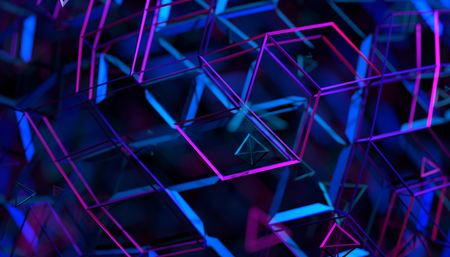 Abstract 3d rendering of geometric background. Futuristic modern design