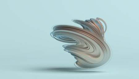 Abstract 3d rendering, twisted shape, modern illustration, background design Stock Photo