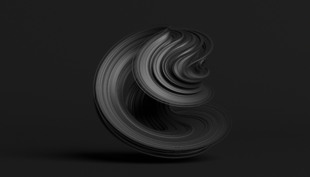 Abstract 3d rendering, twisted shape, modern illustration, background design 스톡 콘텐츠