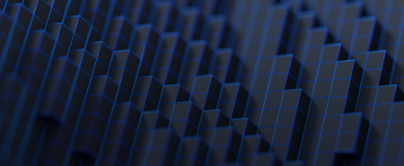 Abstract 3d rendering of a modern background with cubes. Minimalistic geometric design