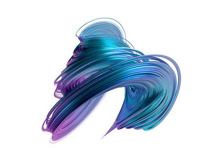 Rendu 3d abstrait, forme torsadée, illustration moderne, design d'arrière-plan