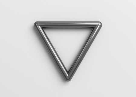 Abstract 3d render of triangle shape, modern geometric background design