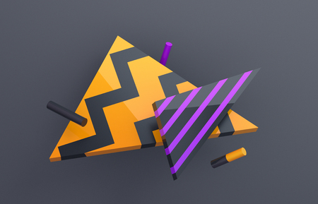 Abstract 3d render, background with geometric shapes, modern graphic design