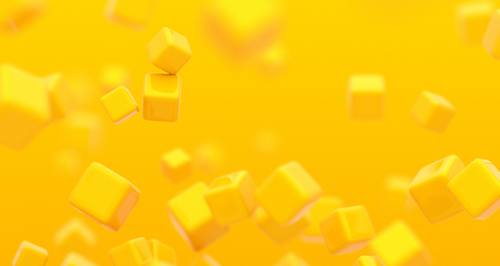 Abstract 3d render, background with cubes, modern graphic design 写真素材 - 120982157