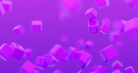 Abstract 3d render, background with cubes, modern graphic design
