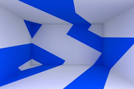 Abstract 3d render, minimalistic background, modern graphic design