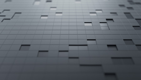 Abstract 3d render, geometric composition with squares, futuristic surface, modern background design