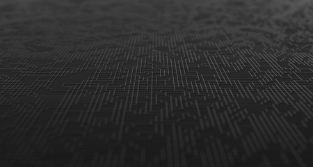 Abstrakte 3D-Darstellung der technologischen Oberfläche, modernes Hintergrunddesign