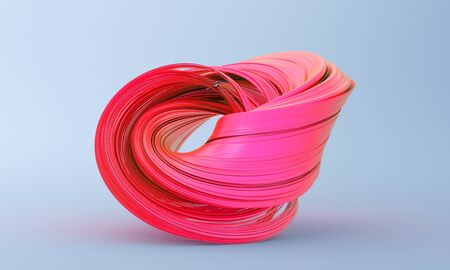 Abstract 3d render, twisted shape, modern illustration, background design Stock fotó
