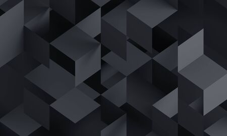 Abstract 3d render, modern background design with geometric shapes Banco de Imagens - 126394425