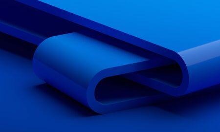 Render 3d abstracto, fondo moderno, diseño gráfico Foto de archivo