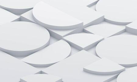 Rendering 3d astratto, design di sfondo moderno con forme geometriche Archivio Fotografico