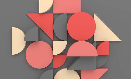 Rendering 3d astratto, design di sfondo moderno con forme geometriche