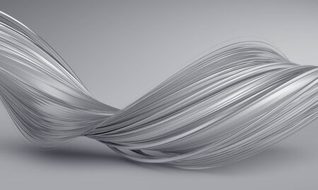 Abstract 3d render of twisted lines modern  design