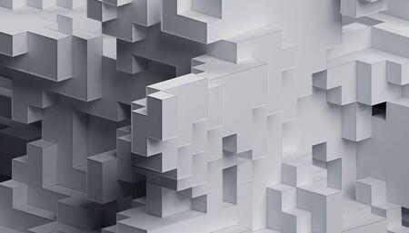 Abstract 3d render, modern geometric background design Banco de Imagens