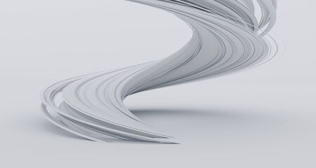 Abstract 3d render of twisted lines, modern background design