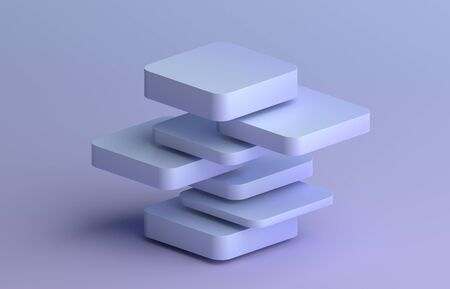 Abstract 3d render, modern background, graphic design