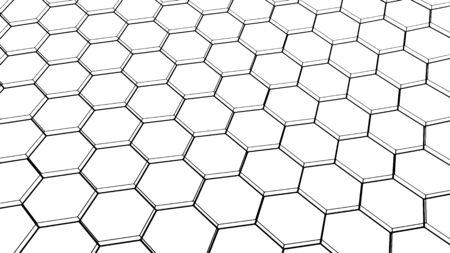 Abstract background, texture design, modern hexagonal pattern, vector illustration
