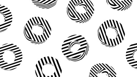 Abstract background, texture design with striped circles, modern pattern, vector illustration