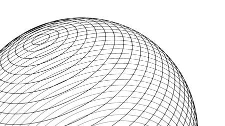Abstract sphere design, modern geometric pattern