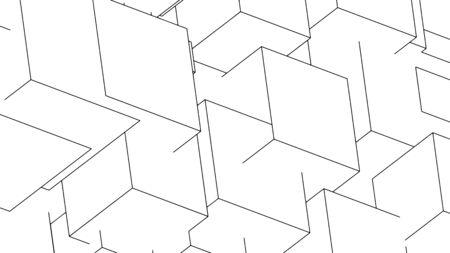 Abstract geometric background, modern design, vector illustration