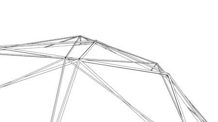 Abstract geometric background design, modern vector illustration