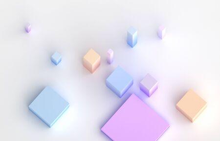 Abstract 3d render, modern geometric composition design 免版税图像