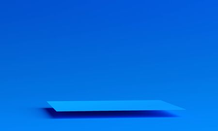 Abstract 3d render, modern blue background design 免版税图像