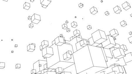 Abstract background design, modern geometric pattern, vector illustration 免版税图像