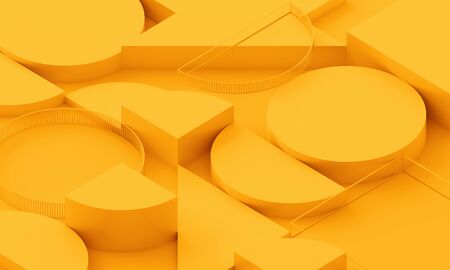Abstract background, 3d render, modern geometric design