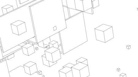 Abstract background design, modern geometric pattern, vector illustration 矢量图像