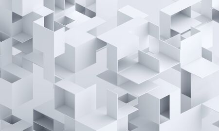 Abstract geometric background, 3d render, composition of geometric shapes