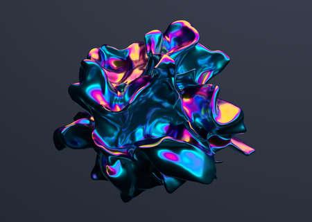 Abstract 3d render, colorful background design, modern illustration Foto de archivo