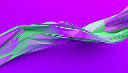 Abstract 3d render, geometric background, modern design