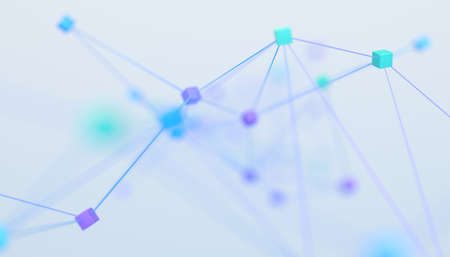 Abstract 3d render, network concept, background design