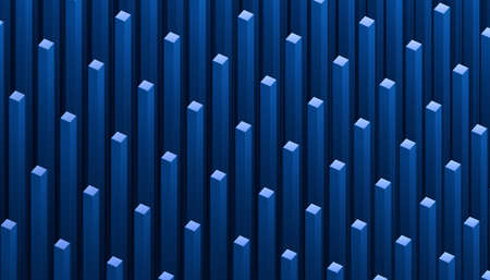 Abstract 3d render, blue geometric background, graphic design