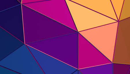 Abstract 3d render, colorful geometric background, modern design 免版税图像