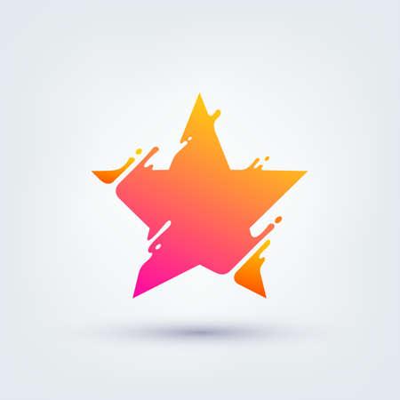 Vector illustration, abstract liquid shape of a star, logo design